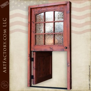 decorative glass Dutch door