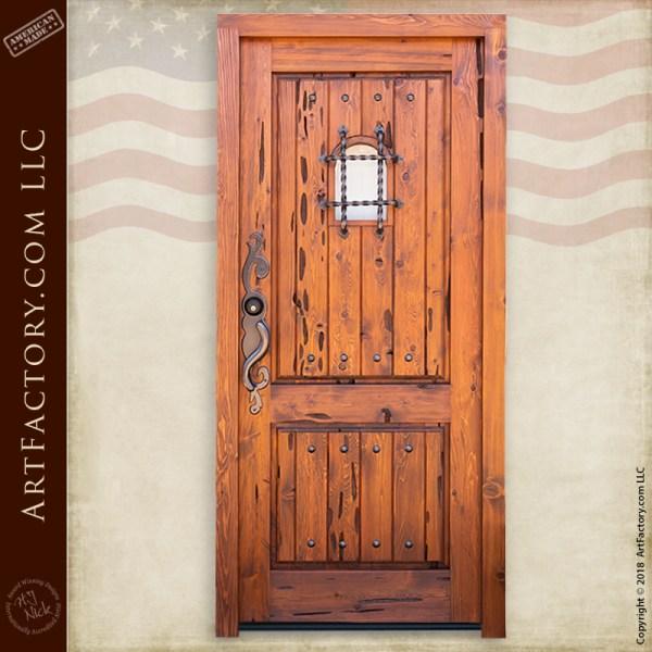 handmade wooden speakeasy door