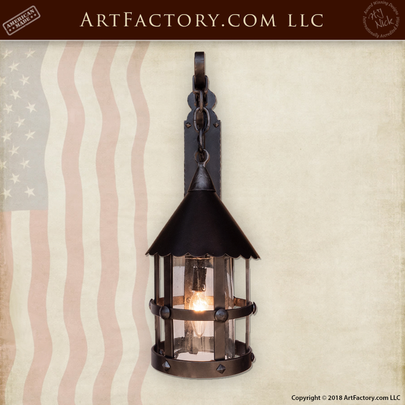 custom iron sconce