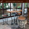 Hand Forged Bistro Table Custom Matching Bar Stools