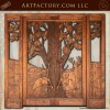 Hand Carved Cabin Entrance Door