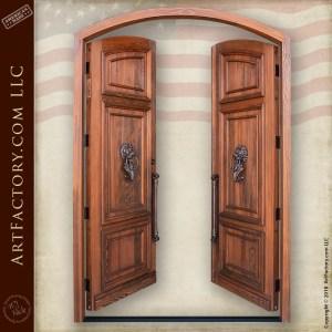 grand English castle entrance doors
