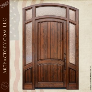 semi arched front door