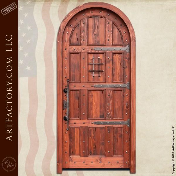 Arch Door with Speakeasy Grill