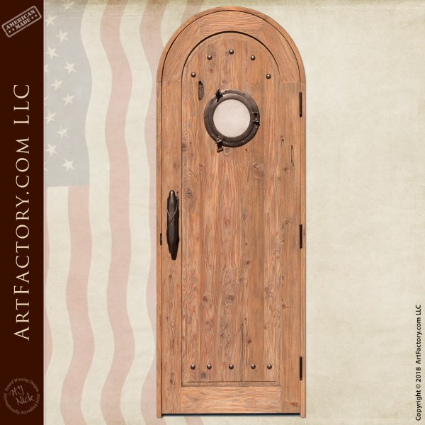 Custom Nautical Porthole Door