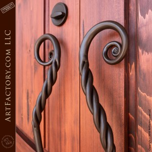 Hand Carved Hawaiian Themed Arch Door