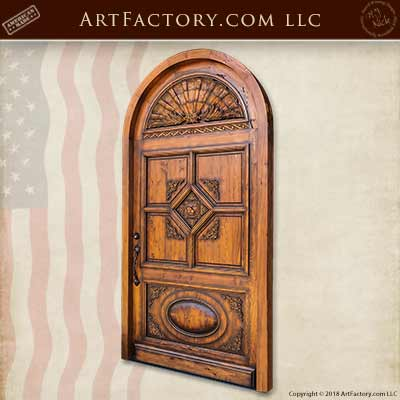 hand carved architectural doors
