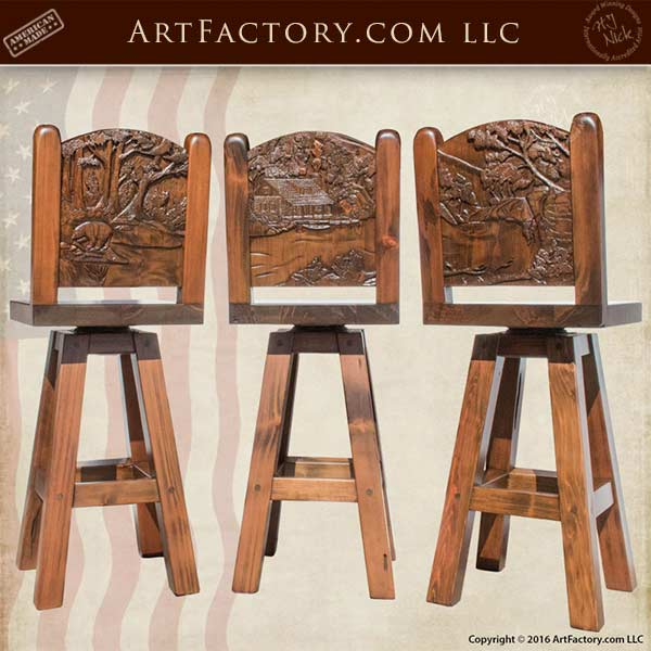 custom wood dining chairs