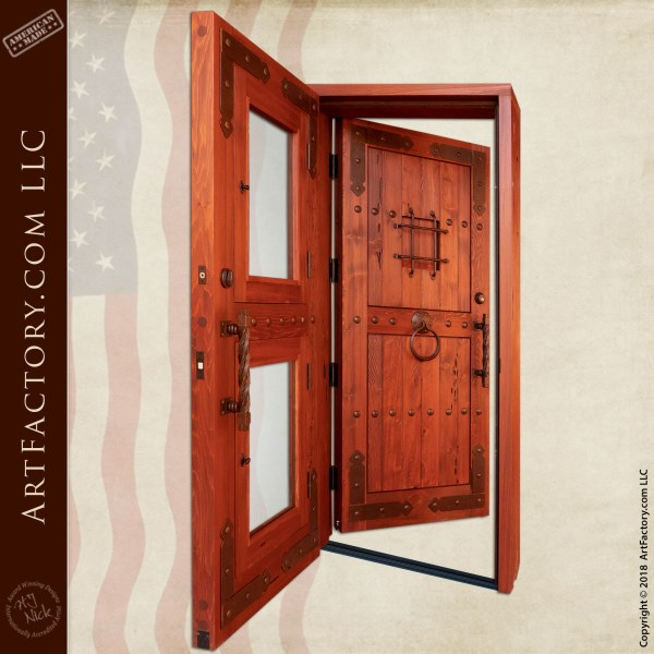 Double Screen Door with Speakeasy Grill and Porthole