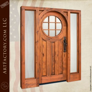 custom colonial handmade door