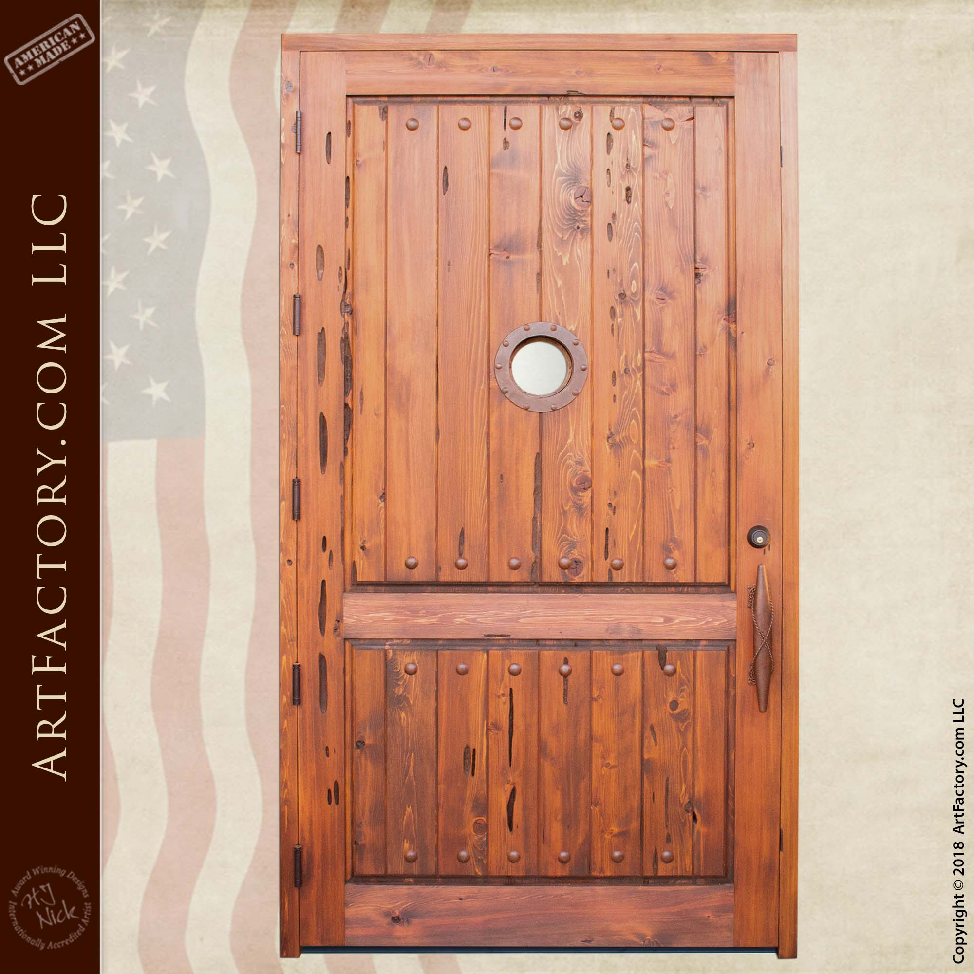 Nautical Theme Door with Portal Window