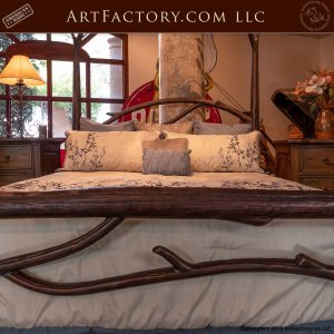 Wrought Iron Birds Nest Nature Themed Luxury Bed Frame