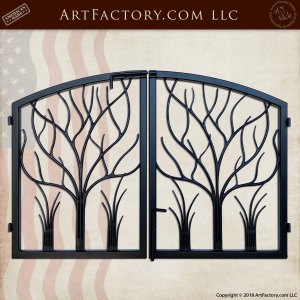 Wrought Iron Tree and Nature Themed Gate