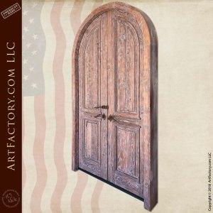 weathered wood double doors back