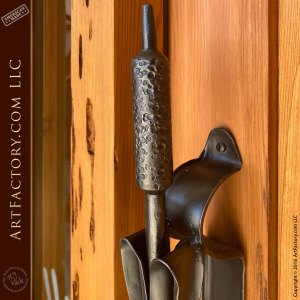 cattail iron door pull