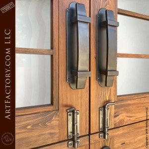 custom hand forged iron door hardware