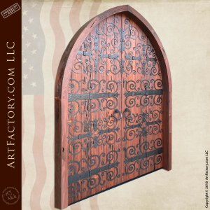 custom cathedral arched double doors