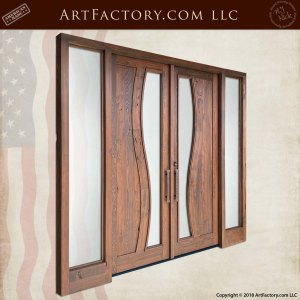 Contemporary Art Nouveau Double Doors angle