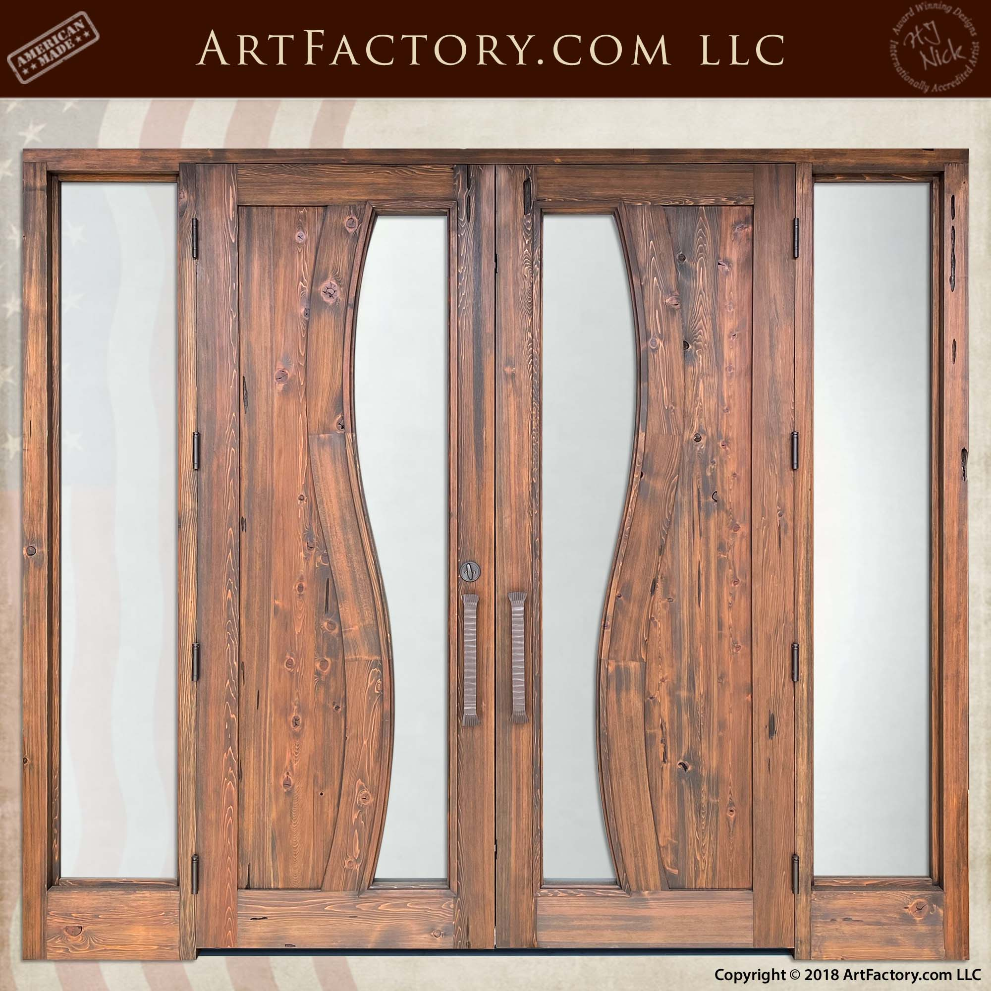 Contemporary Art Nouveau Double Doors back