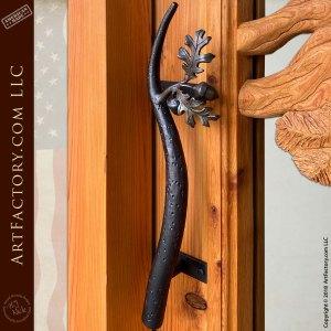 oak branch custom door pull