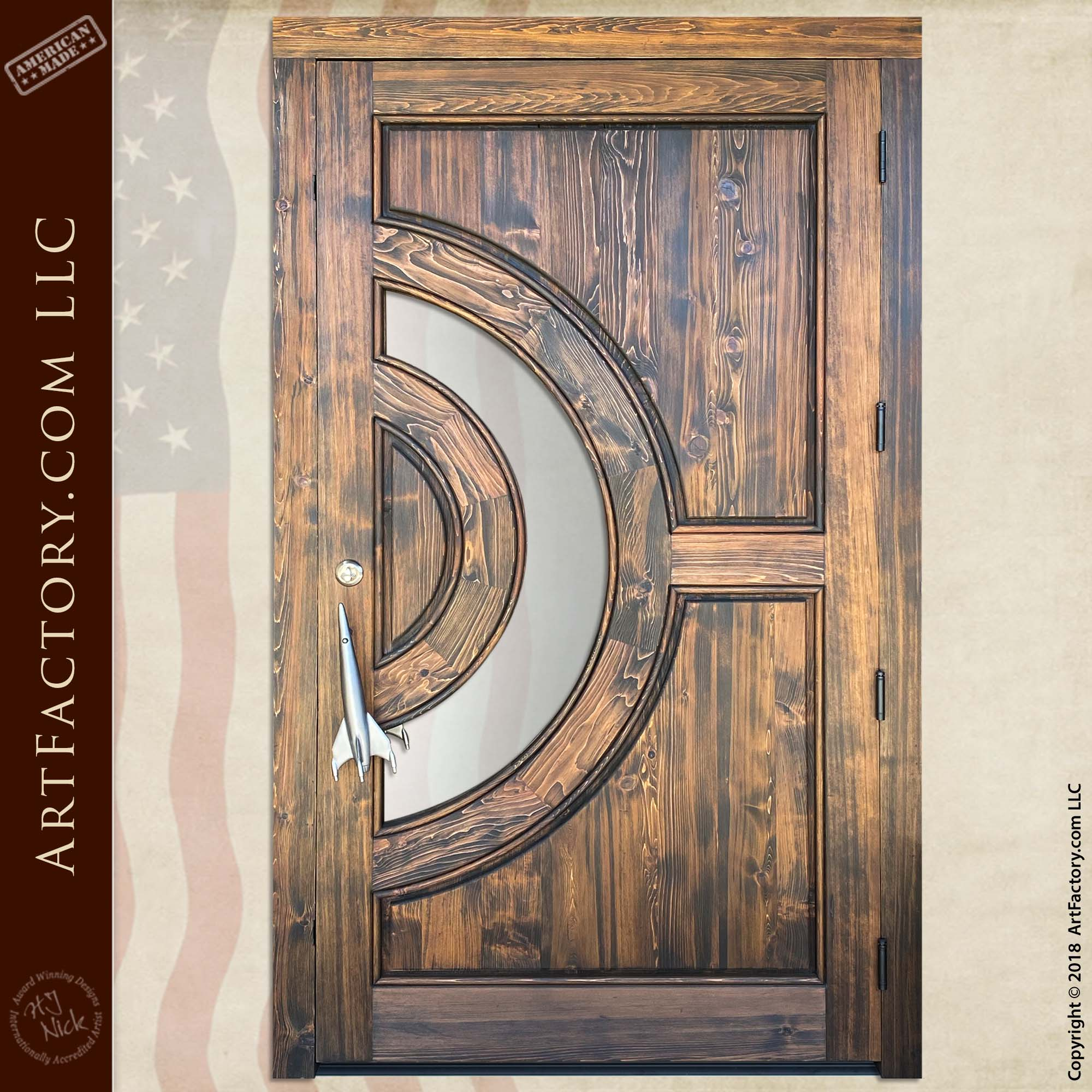 custom astronomy theme door back