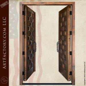 Rustic Basket Weave Double Doors open position