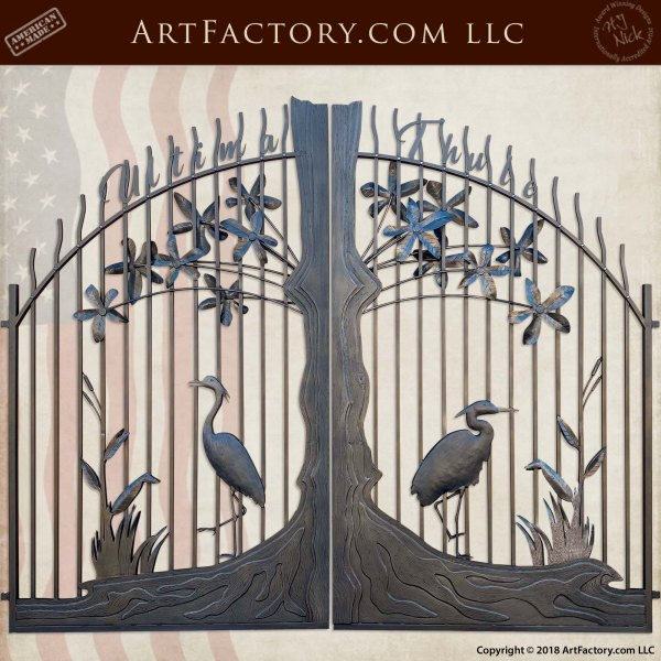 fine art iron estate gate