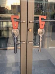 Taphouse 6 door handles installled photo