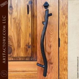small tree branch door pull