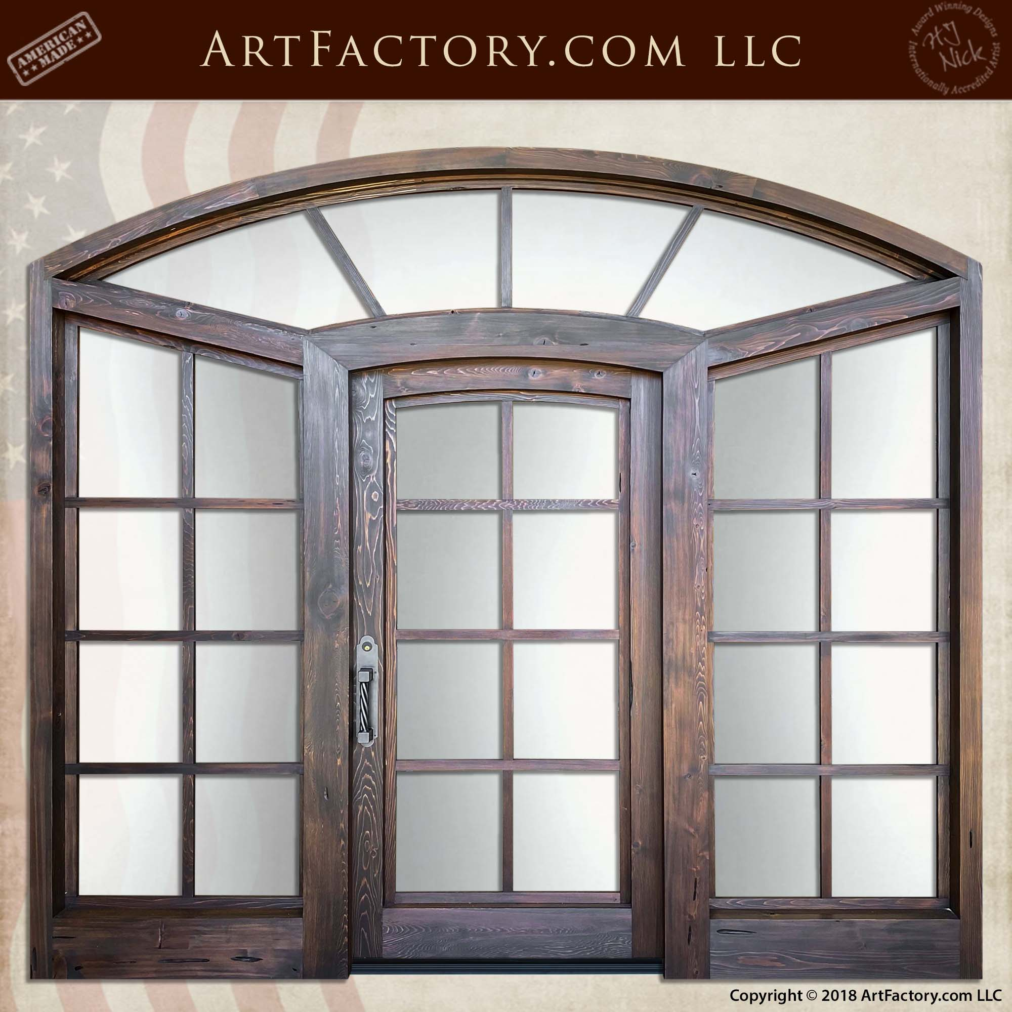 Divided Light Door with Sidelights and Transom