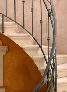 Railings - Wrought Iron- Hand Forged - Patina Finished SR57