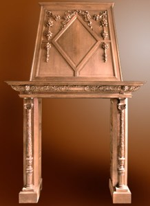 Fire Place Mantle - Designs From The Historical Record -FPM01122