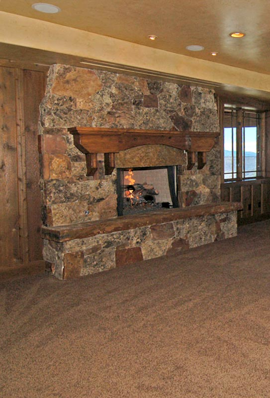 Fireplace Mantle - Exotic Cedar Hand Hewn - FPM44
