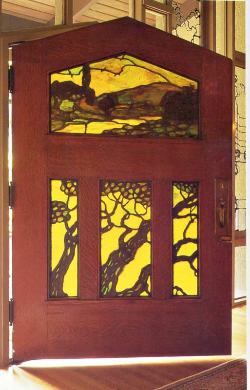 Door - Arts And Crafts Glass Door 1900 America - ACD374