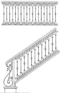 Stair Railing Designs ISR606
