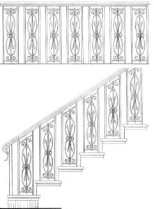 Stair Railing Designs ISR646