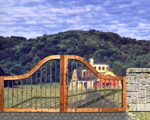 Estate Gate -  by Woburn Abbey 11th Cen England - 2349GG4