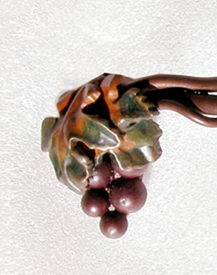 Custom Drawer Pull - Grape Vines And Clusters - HH0168A