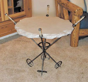 Table - Vintage Ski Pole Table -  MLET596