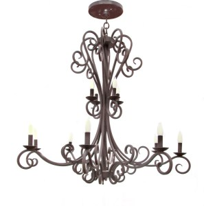 Chandelier - Hand Forged Wrought Iron - LC930A