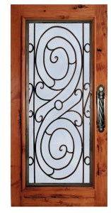Ornamental Iron Door - Castle Oliver 17th Cen Ireland - 3009WI
