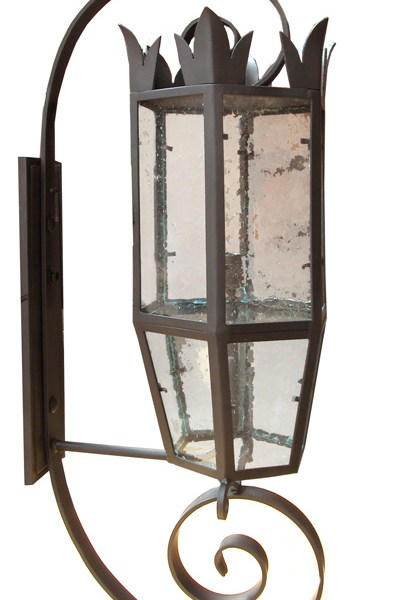 Custom Iron And Glass Sconce LS164A