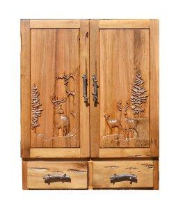 Dart Board - Hand Carved Cabinet  -  MLSDB689A