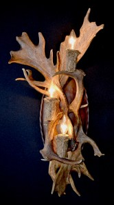Fallow Deer Wall Sconce - Natural Fallow Deer Europe - LS479