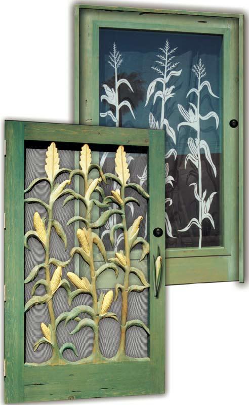 Front Door Field Corn Carving - American Corn Farming  - 1336HC