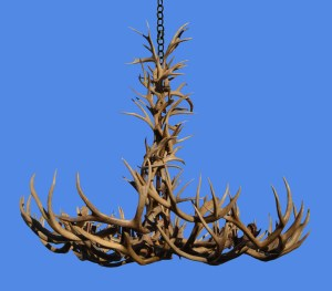 Deer & Elk Natural Antler Chandelier  - LA946
