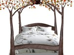 King Iron Bed - Iron Birds Nest Tree Bed - BNB67B