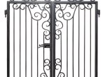 Custom Entrance Gates - Iron Scroll Design - G1311