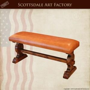 Custom Built Bench - Full Grain Leather & Wood - LWB200