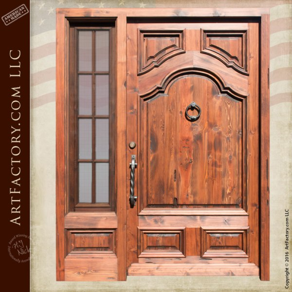 colonial style wood door